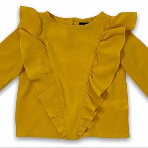 Andy & Evan Beautiful Gold Ruffled Blouse, size 3T